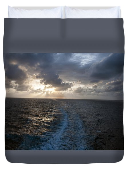 Sunset Over Fort Lauderdale Duvet Cover