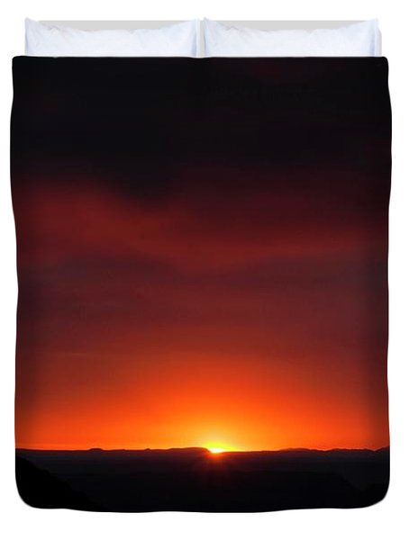 Sunset Over Grand Canyon Duvet Cover
