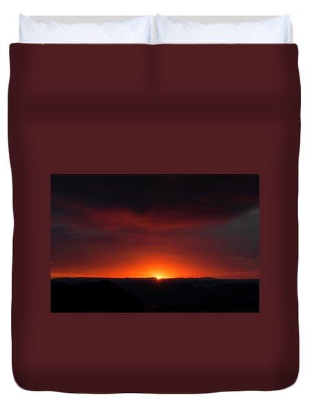 Sunset Over Grand Canyon Duvet Cover
