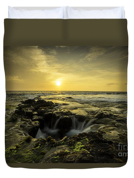 Sunset Over Kona All Proceeds Benefit Hospice Of The Calumet Area Duvet Cover