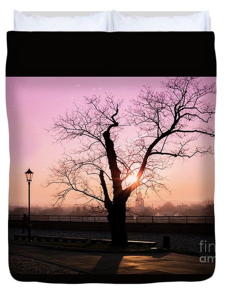 Duvet Cover featuring the photograph Sunset Over Krakow by Juli Scalzi