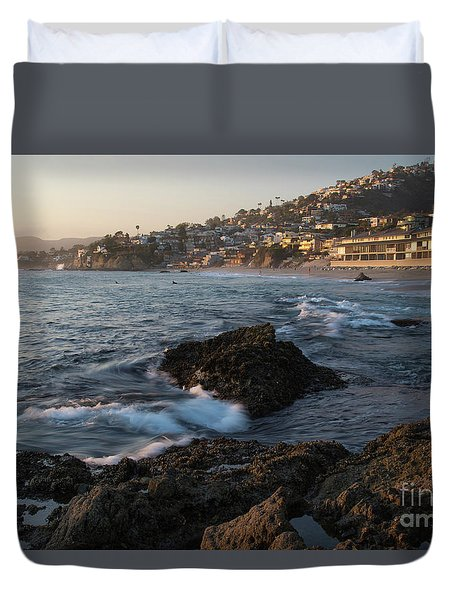 Sunset Over Laguna Beach   Duvet Cover
