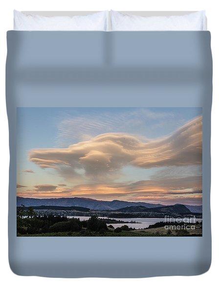 Sunset Over Lake Wanaka Duvet Cover