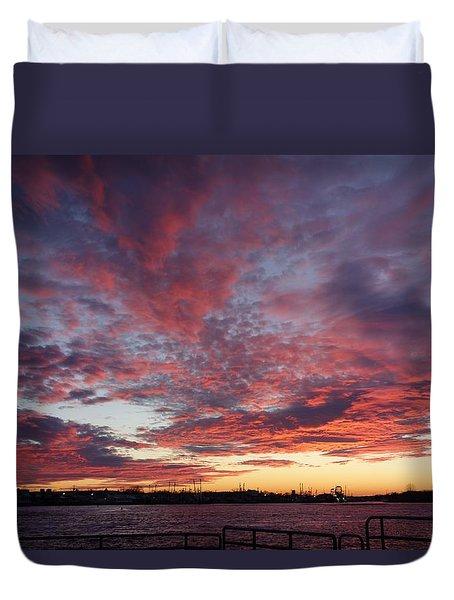 Manasquan Inlet Sunset    Duvet Cover