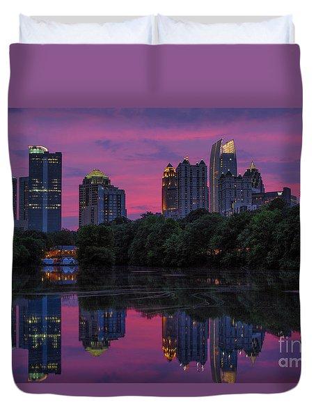 Sunset Over Midtown Duvet Cover