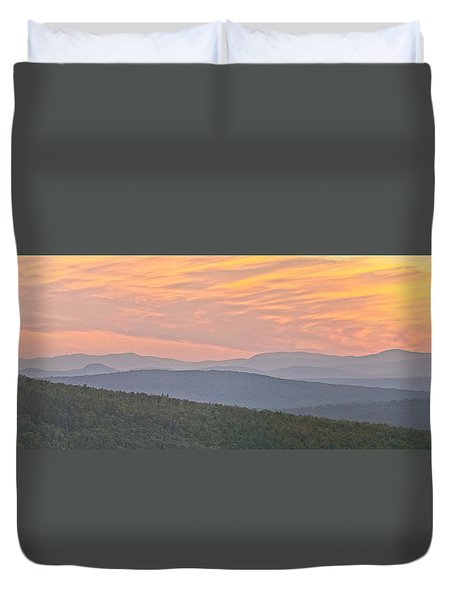 Duvet Cover featuring the photograph Sunset Over Mooselookmeguntic by Peter J Sucy