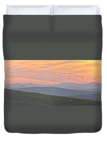 Sunset Over Mooselookmeguntic Duvet Cover