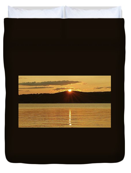 Sunset Over Piermont Duvet Cover