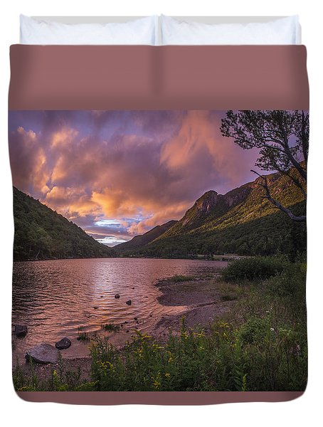 Sunset Over Profile Lake Duvet Cover