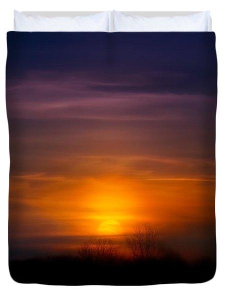 Sunset Over Scuppernong Springs Duvet Cover