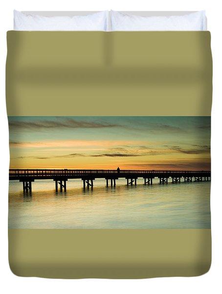 Sunset Over The Barnegat Bay Duvet Cover