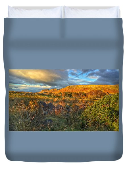 Sunset Over The Campsie Fells Duvet Cover