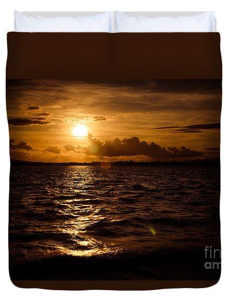 Sunset Over The Cunnigar Duvet Cover