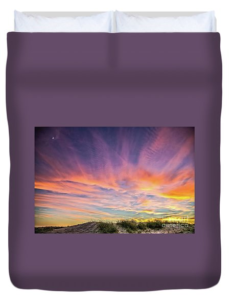 Sunset Over The Dunes Duvet Cover by Vivian Krug Cotton