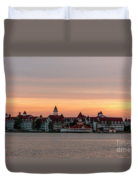 Sunset Over The Grand Floridian Duvet Cover
