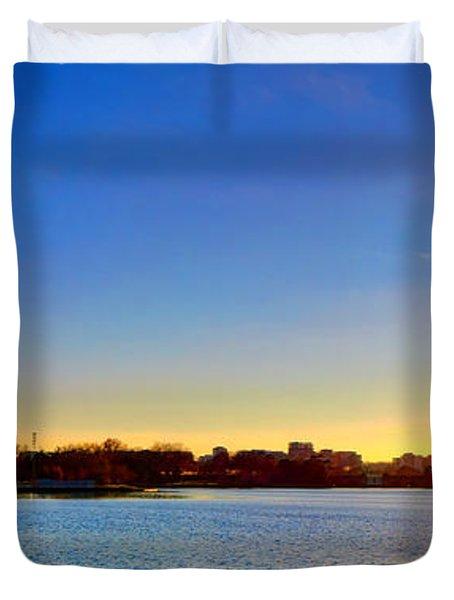 Sunset Over The Jefferson Memorial  Duvet Cover