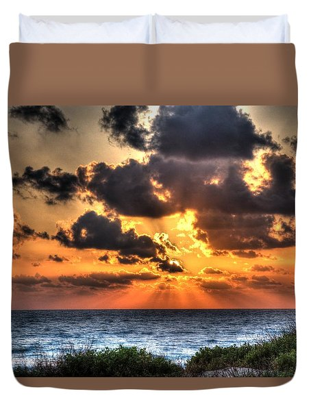 Sunset Over The Mediterranean 2 Duvet Cover