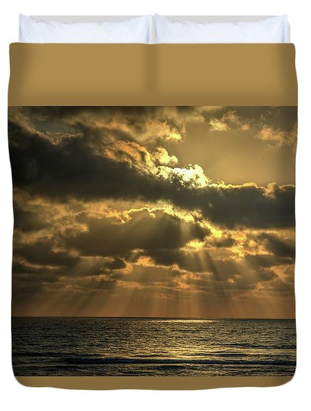 Sunset Over The Mediterranean 5 Duvet Cover