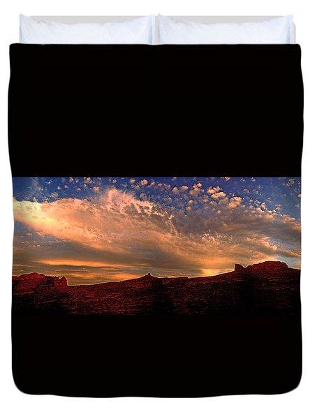 Sunset Over The Moab Rim 2 Duvet Cover