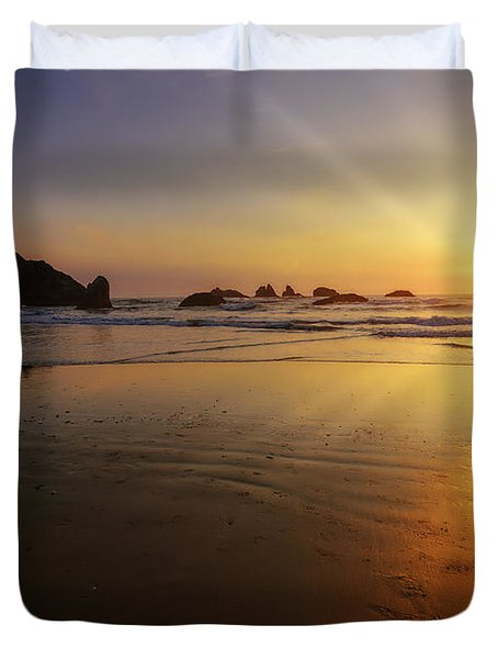 Sunset Over The Pacific  Duvet Cover