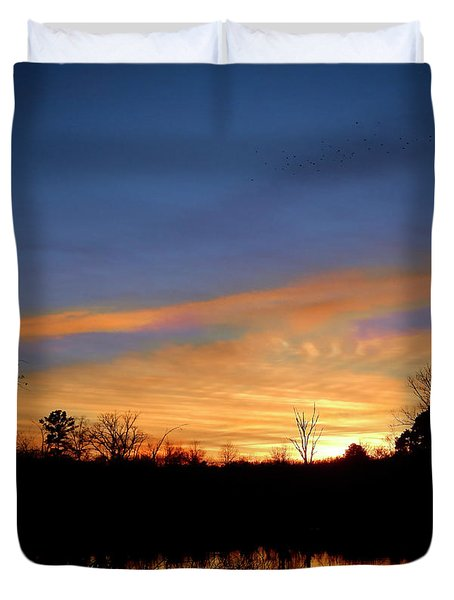 Sunset Over The Sabine 02 Duvet Cover