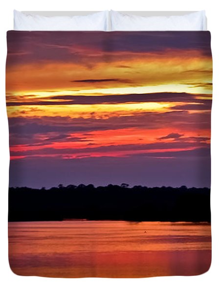 Sunset Over The Tomoka Duvet Cover