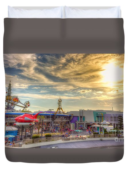 Sunset Over Tomorrowland Duvet Cover