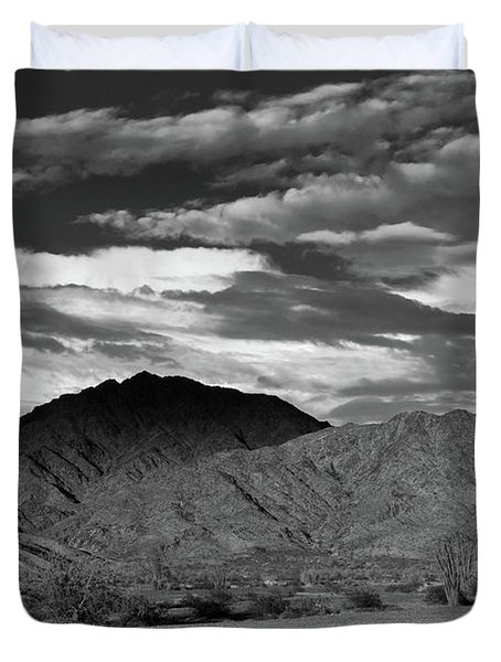 Sunset Over Yuma Mountain Duvet Cover
