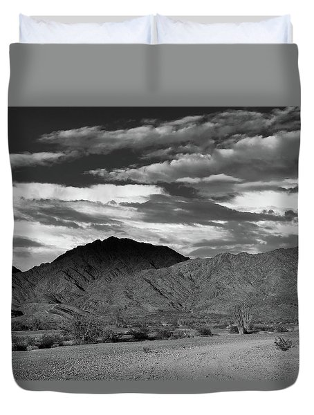 Sunset Over Yuma Mountain Duvet Cover