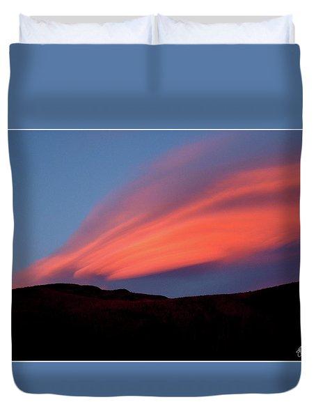 Sunset Paints Stinson Mountain Duvet Cover