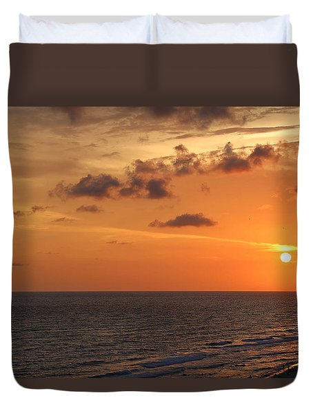 Sunset Panama City Florida Duvet Cover