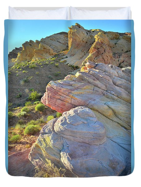 Sunset Pastels In Valley Of Fire Duvet Cover