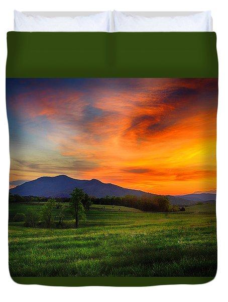 Sunset Pasture Duvet Cover