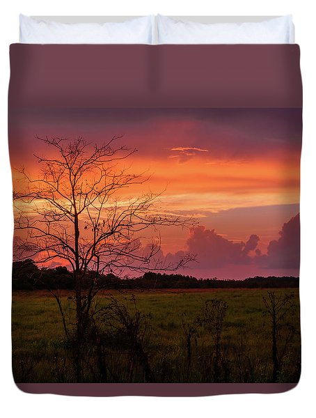 Sunset Pasture Duvet Cover