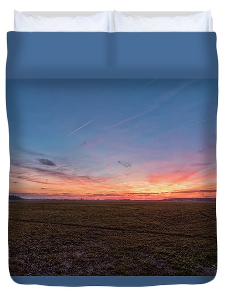 Sunset Pastures Duvet Cover