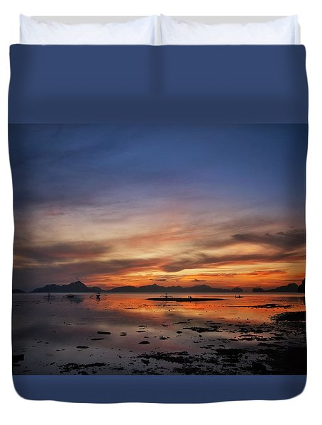 Sunset Pi Duvet Cover