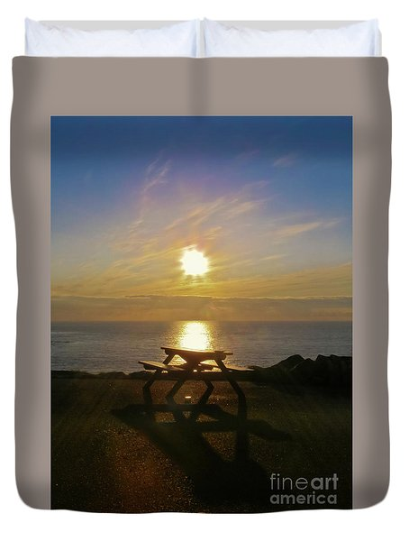 Sunset Picnic Duvet Cover by Terri Waters