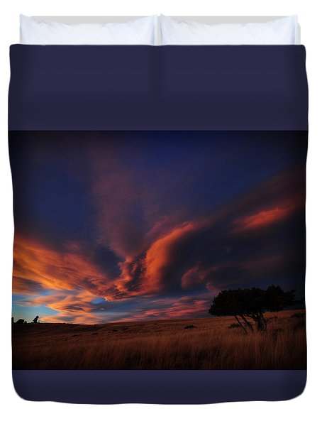 Sunset Plains Duvet Cover