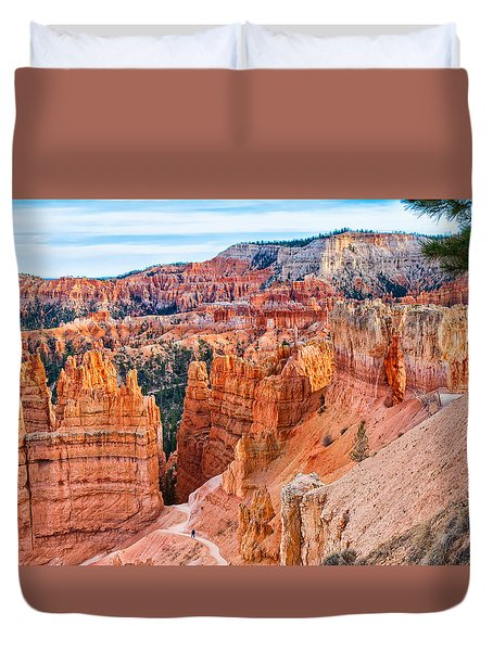 Duvet Cover featuring the photograph Sunset Point Tableau by John M Bailey
