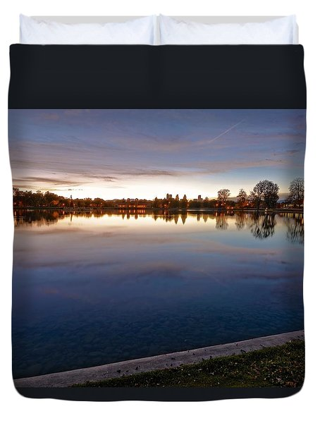 Sunset Pond Duvet Cover