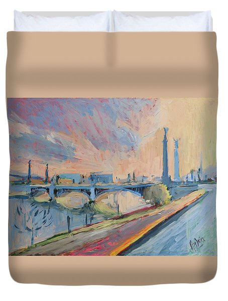 Sunset Pont Fragnee Duvet Cover