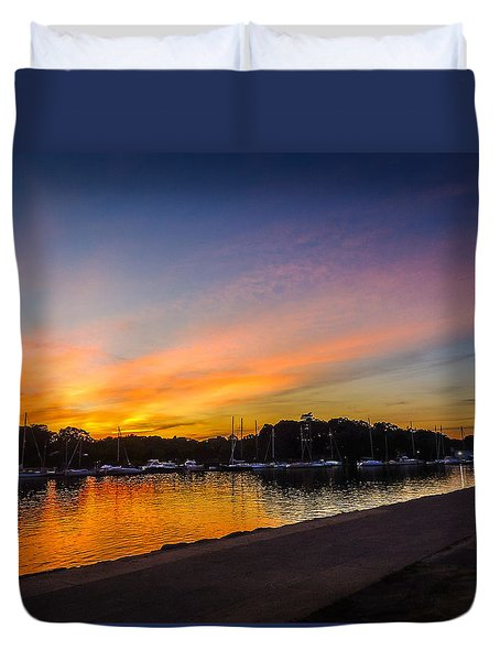 Sunset Promenade Duvet Cover