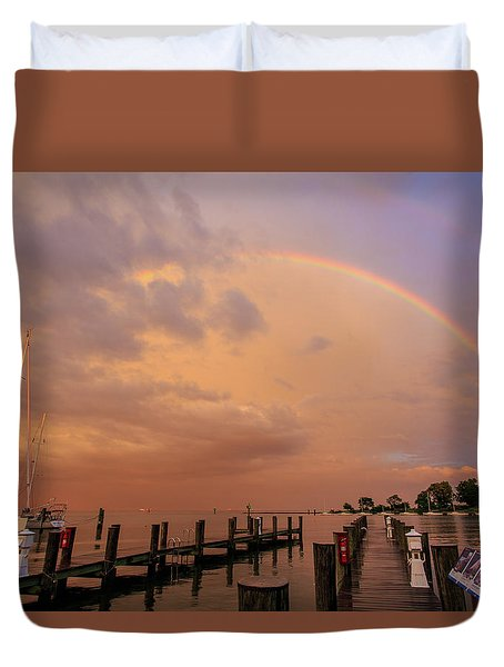 Sunset Rainbow Duvet Cover