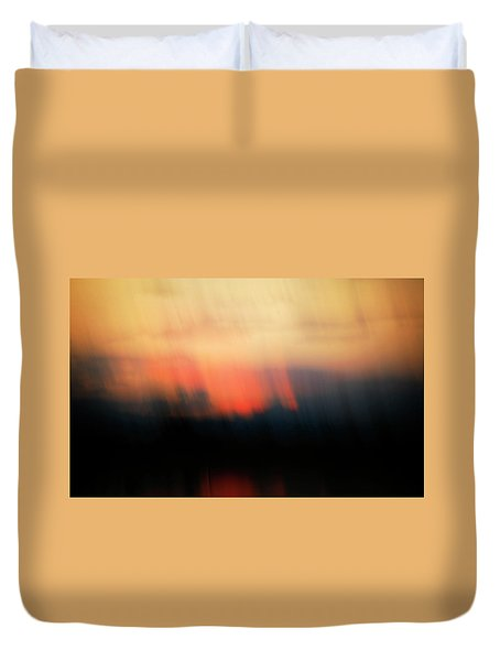 Duvet Cover featuring the photograph Sunset Raining Down by Marilyn Hunt