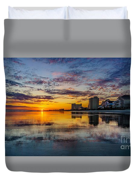 Sunset Reflection Duvet Cover by David Smith