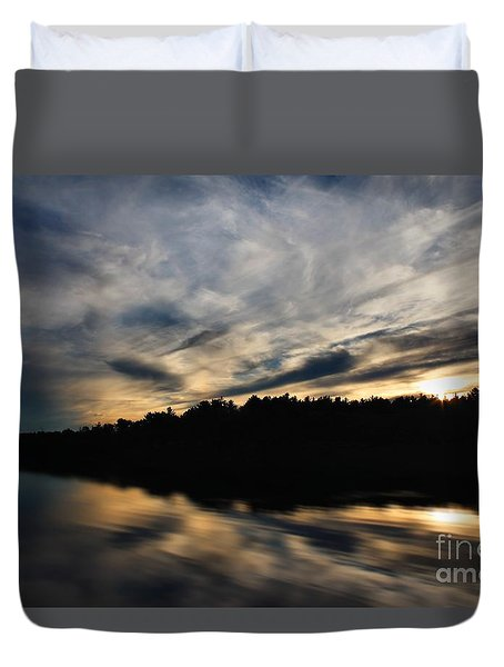 Duvet Cover featuring the photograph Sunset Reflection by Kenny Glotfelty