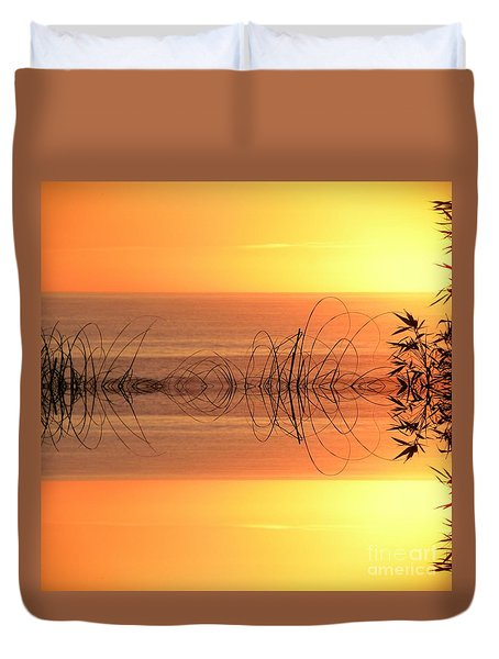 Sunset Reflection Duvet Cover by Sheila Ping