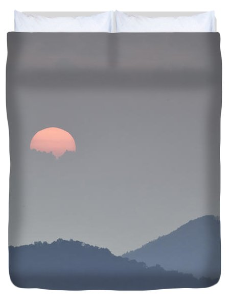 Sunset Repition - Blue Ridge Parkway Sunset Scene Duvet Cover by Rob Travis