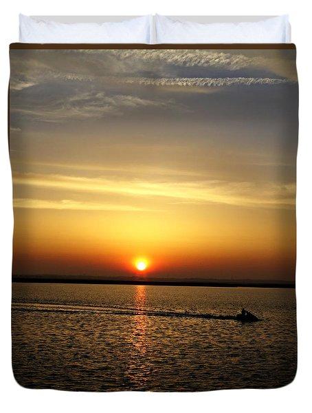 Sunset Ride Duvet Cover