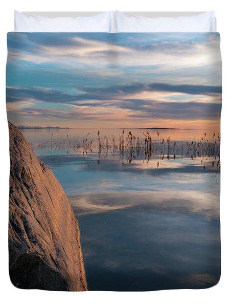 Sunset Rock Duvet Cover by Justin Johnson